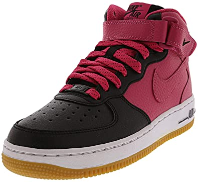 promo code 421d2 251de Nike Girls  Air Force 1 Mid (GS) Basketball Shoes, Rosa Blanco (Black Vivid  Pink-White), 4.5 UK  Amazon.co.uk  Shoes   Bags