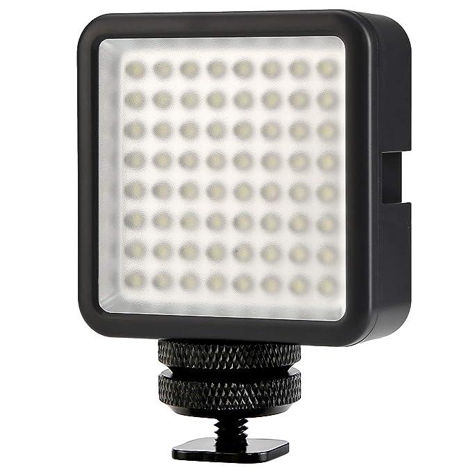 Torche Portable 5w Caméra Eclairage CanonNikonSony Dimmable Led Dslr Panneau De Photo 6000k Lumière 64 Pour Lampe Koolertron Vidéo 7gyf6b
