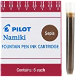 Pilot Namiki IC50 Fountain Pen Ink Cartridge, Sepia, 6 Cartridges per Pack (69006)