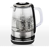 H.KOENIG TI600 zaparzacz do herbaty, stal nierdzewna/szkło