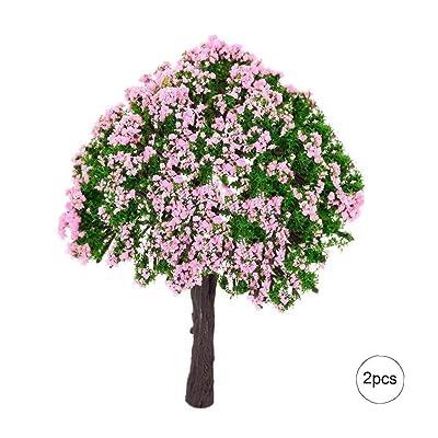 2 piezas de la planta del árbol miniatura Hada del jardín en miniatura Dollhouse Micro paisaje DIY de la decoración del jardín: Juguetes y juegos