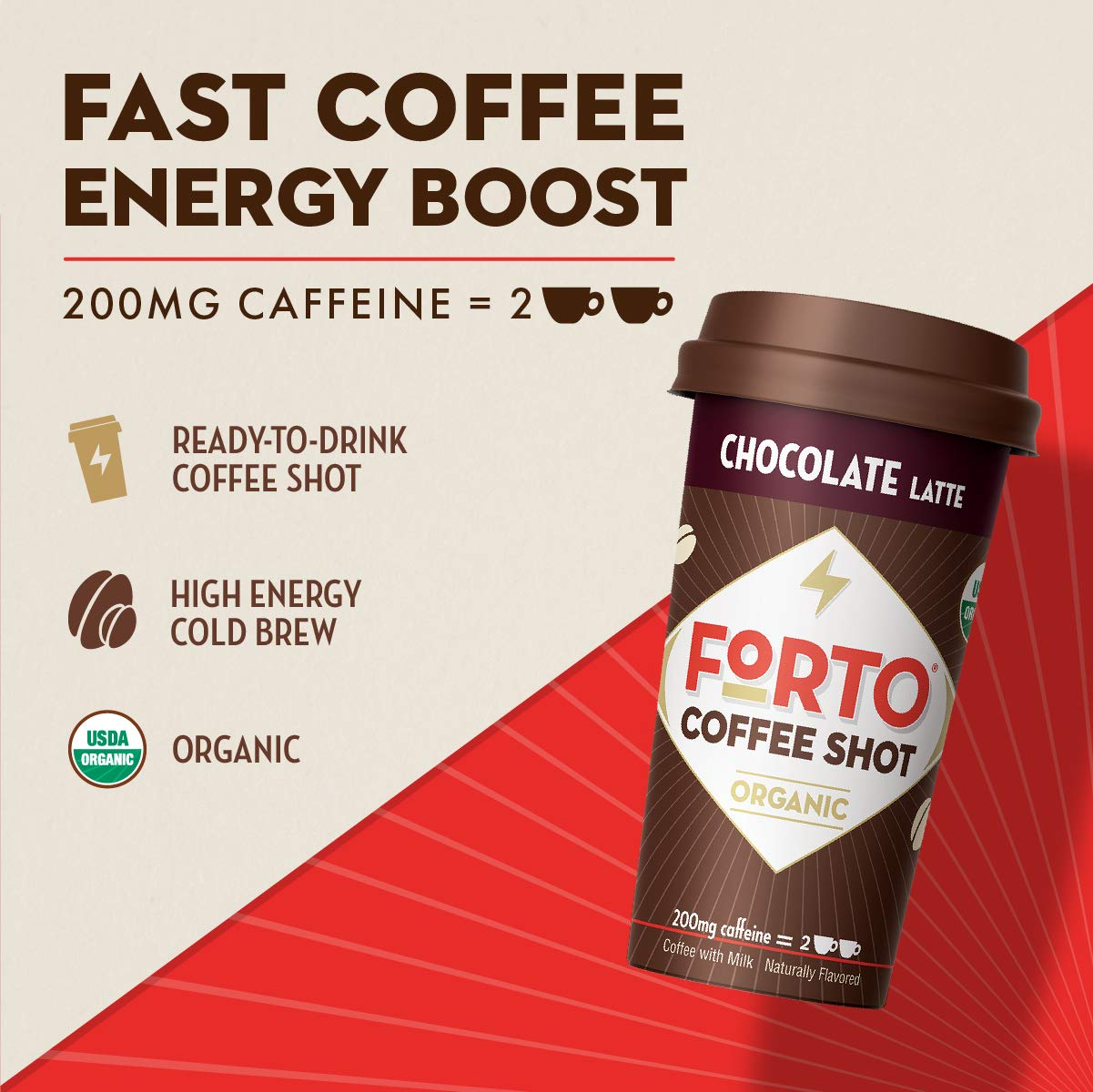 FORTO Coffee Shots - 200mg Caffeine, Variety Pack, High Caffeine Cold Brew Coffee, Bottled Fast Coffee Energy Boost, 12 Pack by FORTO (Image #3)