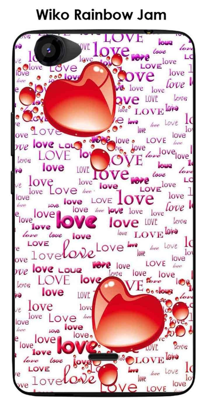 Carcasa para Wiko Rainbow Jam Design 2 corazones, Love Mauve ...
