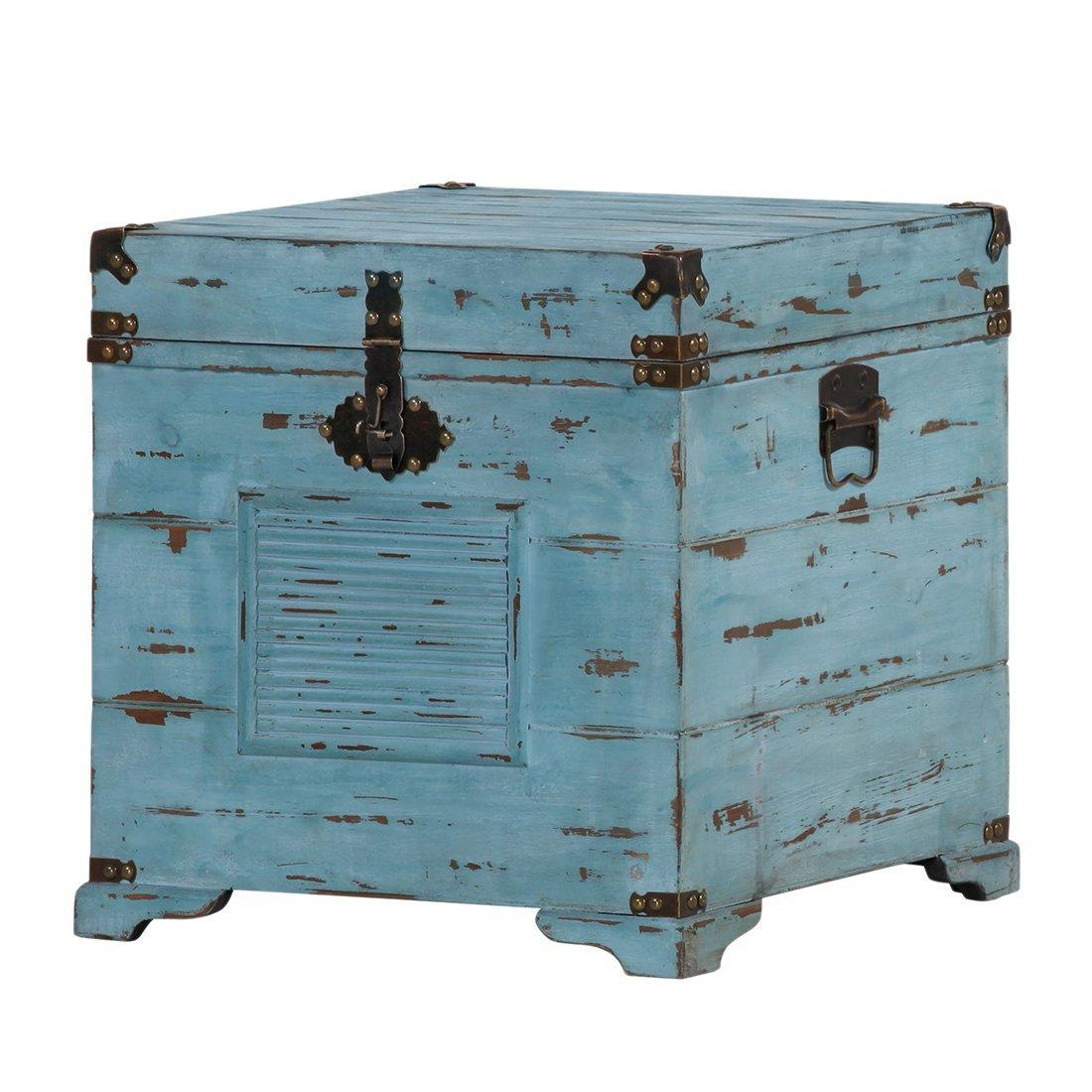 heine home Unisex Truhe grün Im angesagten Vintage-Look: Amazon.de ...
