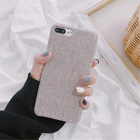 Pragmaticv Funda Suave de Textura de Tela para iPhone 7 ...