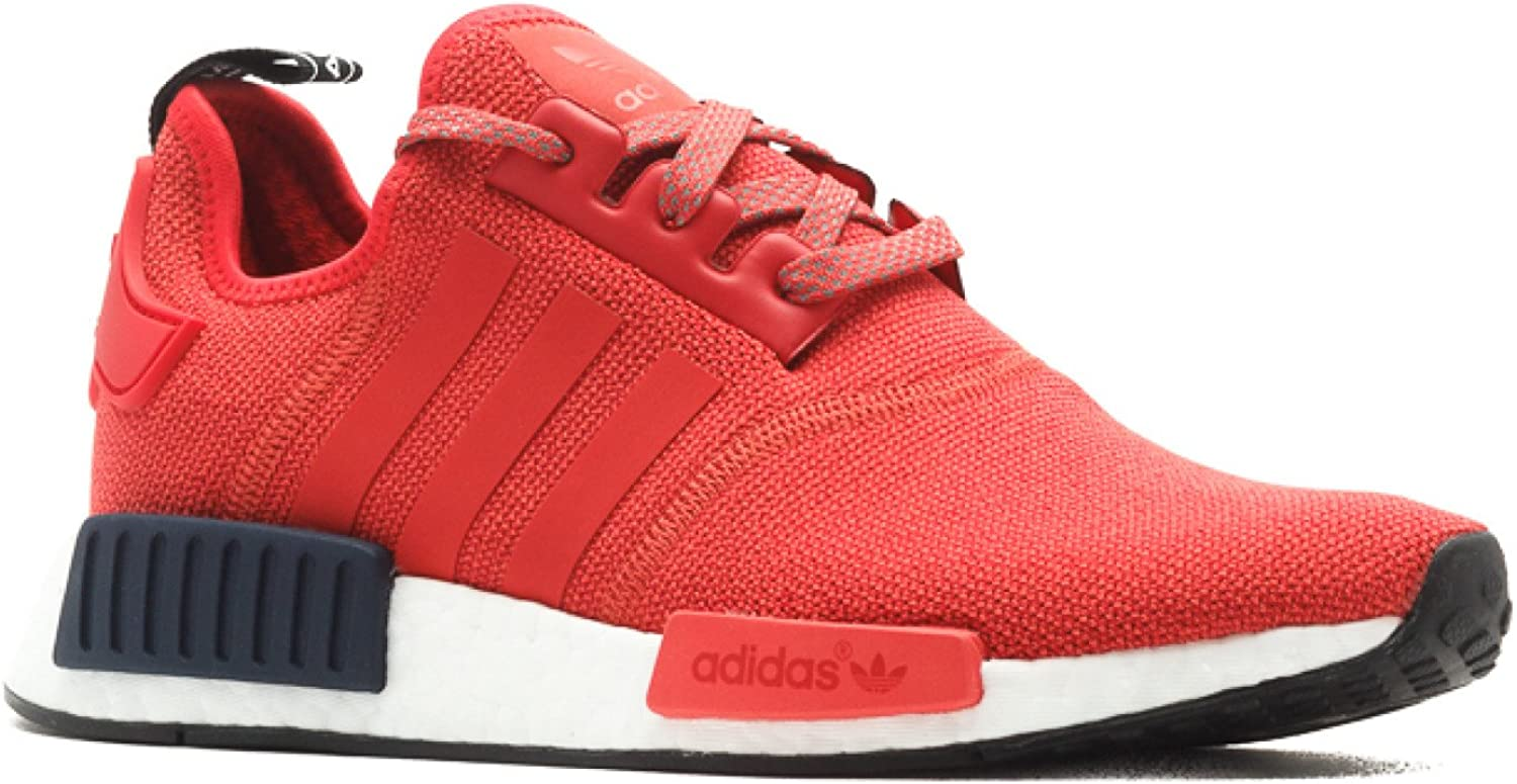 nmd r1 shoes red and black