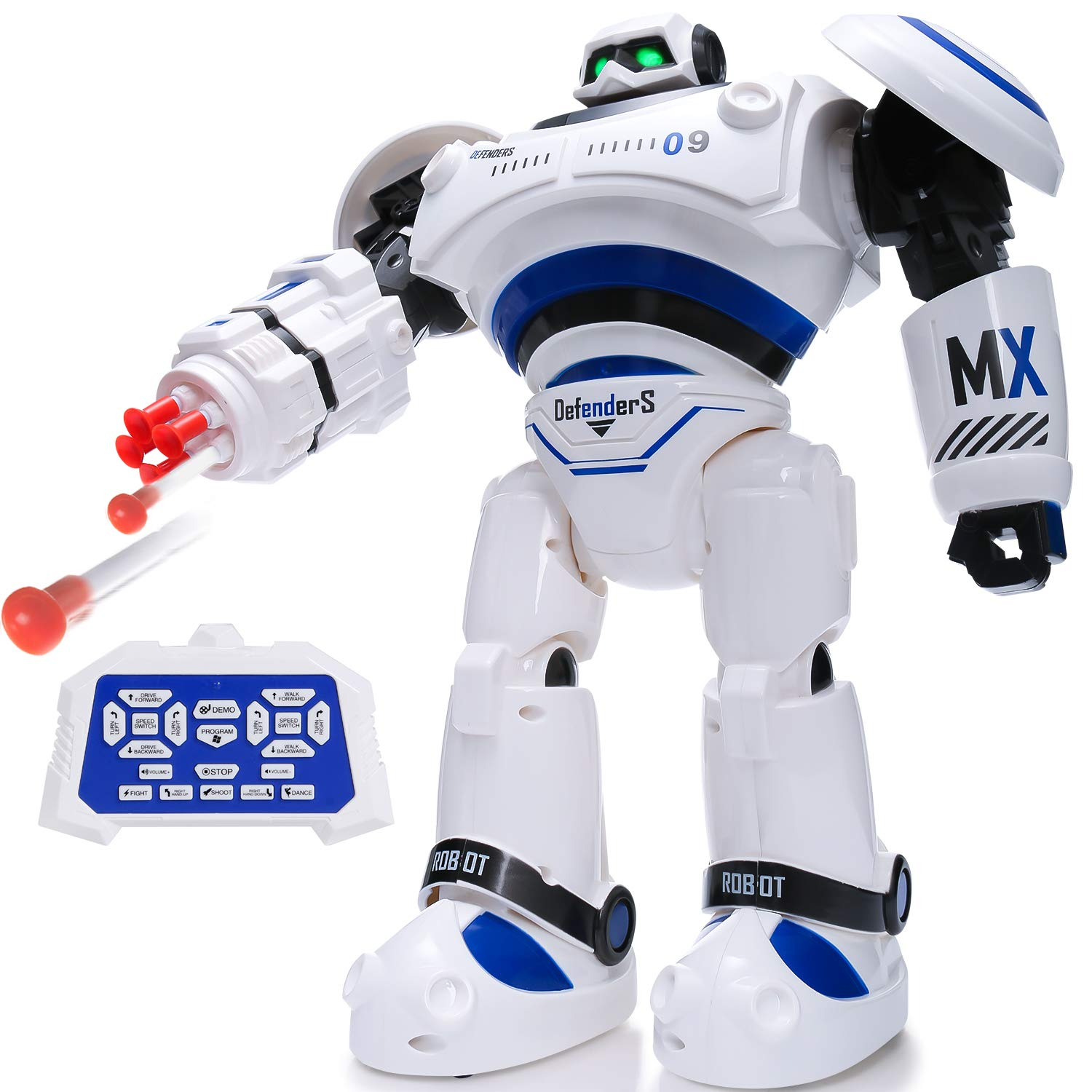 SGILE RC Robot Toy, Programmable Intelligent Walk Sing Dance Robot for Kids Gift Present, White by SGILE (Image #1)