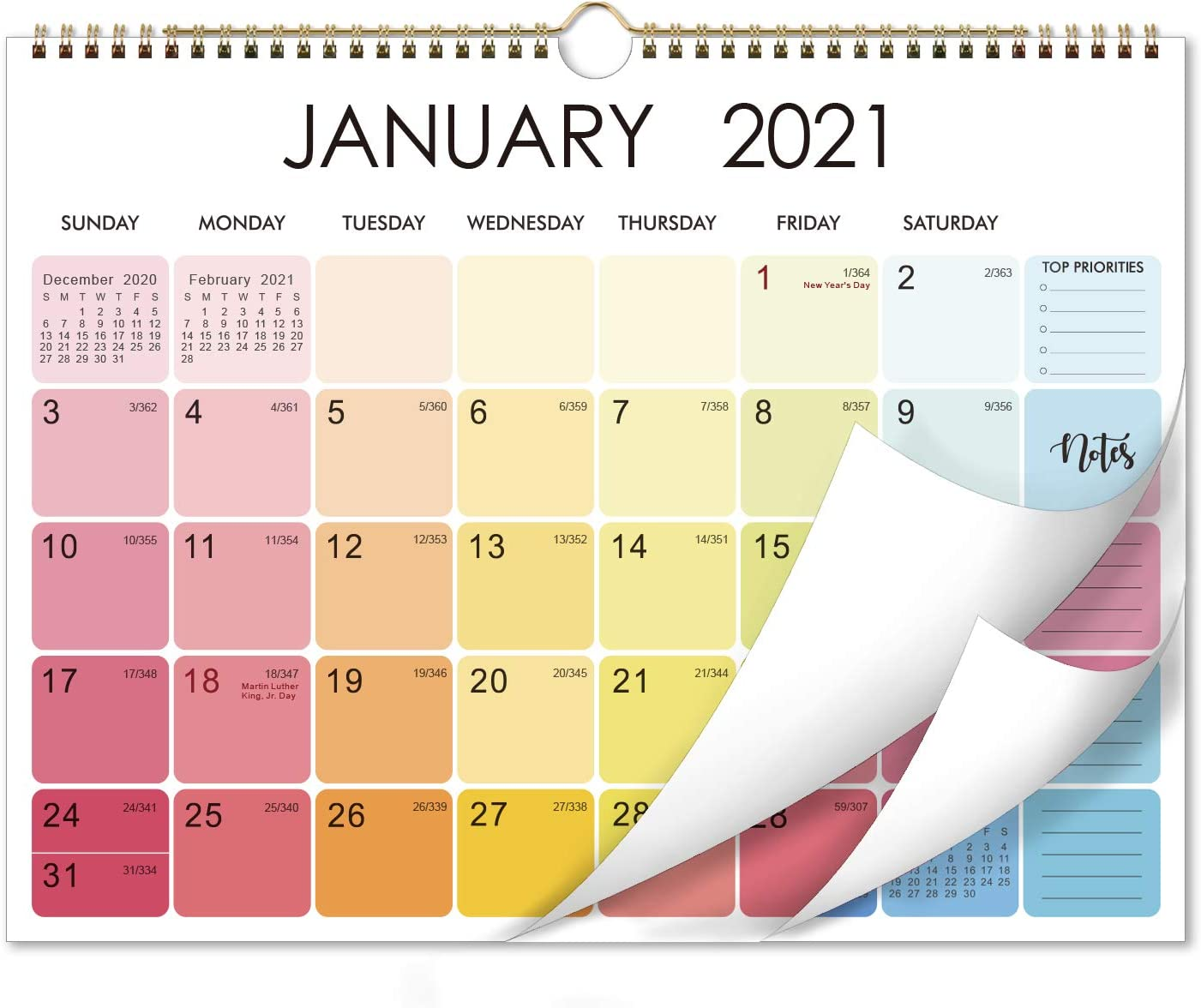Amazon.: 2021 Calendar   Monthly Wall Calendar 2021 with Thick