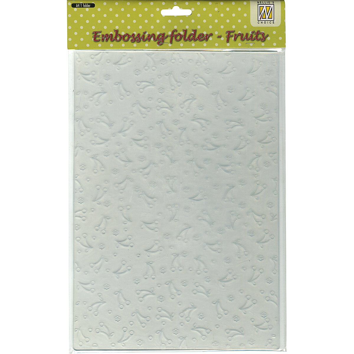 Ecstasy Crafts Nellie's Choice A4 Embossing Folder-Fruits/Cherries, 8.25 by 11.875-Inch by Ecstasy Crafts