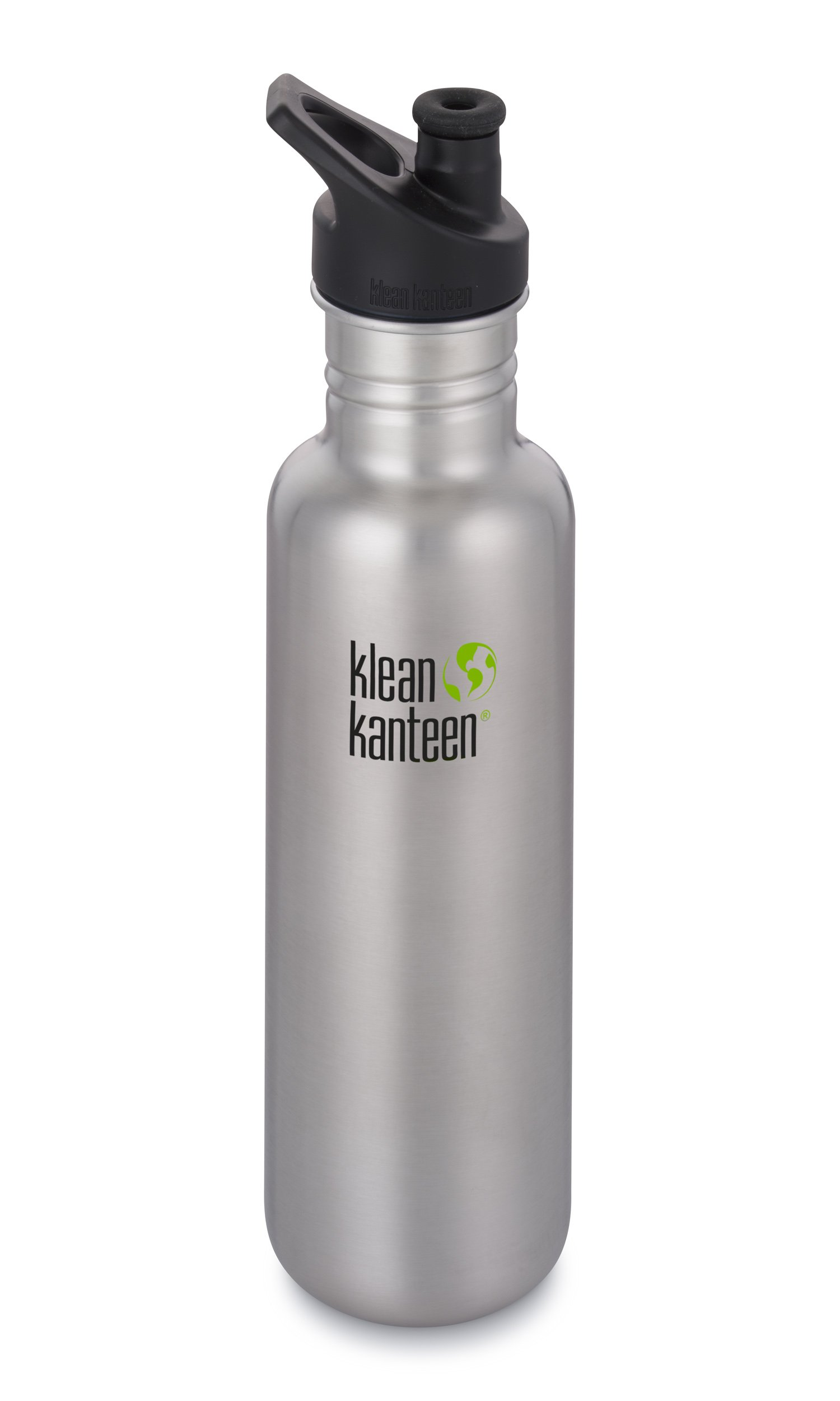 Klean Kanteen Classic Stainless Steel Single Wall Non-Insulated Water Bottle with Sport Cap, 27-Ounce, Brushed Stainless by Klean Kanteen