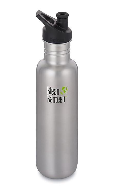 e96d275e2f Klean Kanteen 18oz Classic Stainless Steel Water Bottle Single Wall with  Leak Resistant Sport Cap 3.0