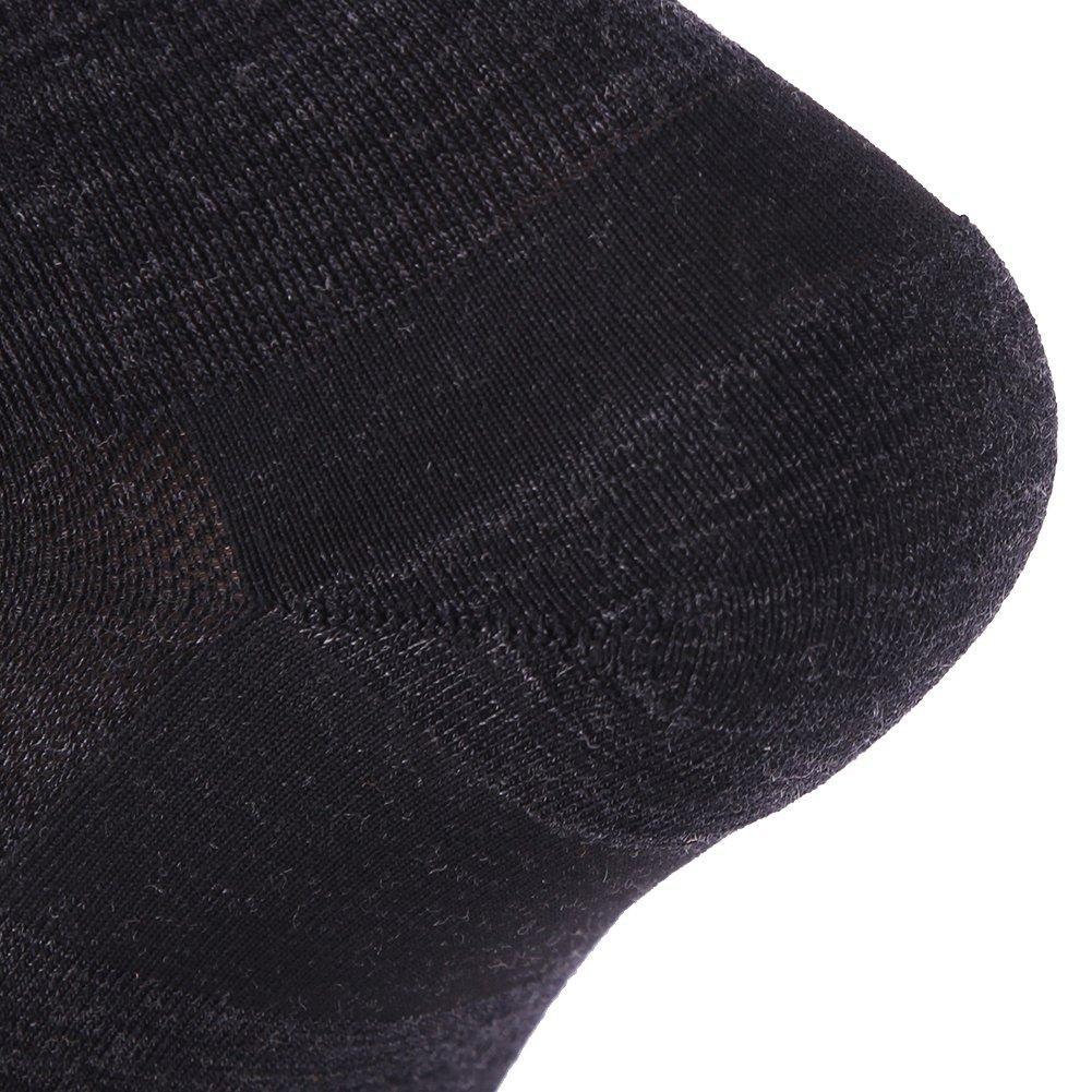 Low Cut Running Socks, ZEALWOOD Women Merino Wool Antibacterial Socks Ultra-Comfortable Cycling Training Socks Anti-Blister Moisture Wicking Socks,3 Pairs-Black,Small by ZEALWOOD (Image #8)