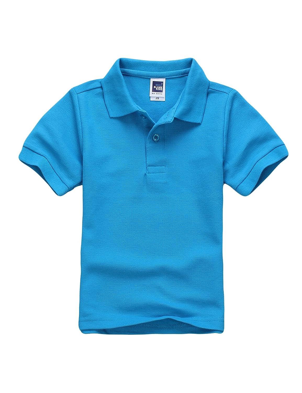 Legou Jungen Poloshirt Jungen Kurzarm T-Shirt Einfarbig Sommer Basic Polo