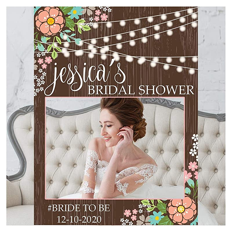 Bridal shower games Bridal decoration Cadre photo booth mariage. Customized wedding gift Wedding photo booth frame Bridal shower sign