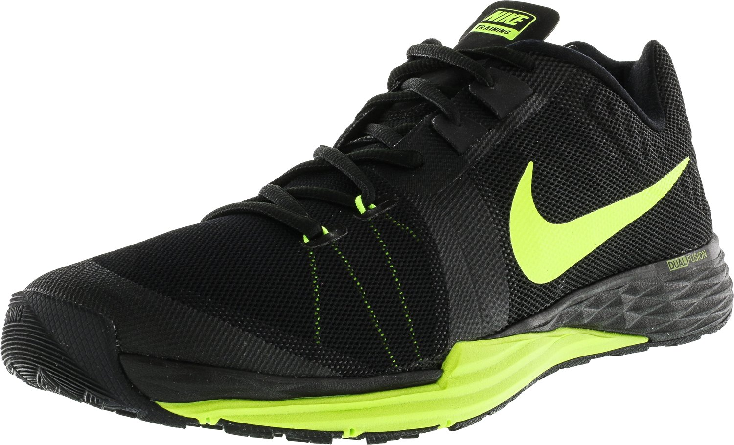 NIKE Men's Train Prime Iron DF Cross Trainer Shoes B019HDQX0G 12.5 D(M) US|Black/Volt/Cool Grey