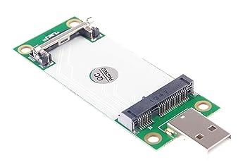 knacro Mini PCI-E a USB adaptador con ranura para tarjeta ...