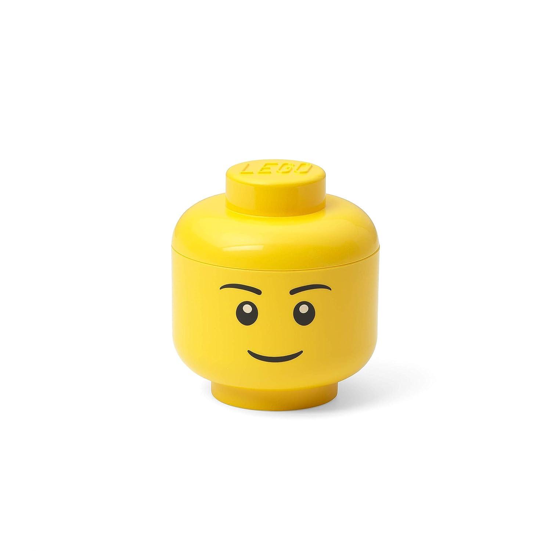 Room Copenhagen, LEGO Storage Head - Stackable Storage Solution, Holds up to 100 Building Bricks - Mini, Boy