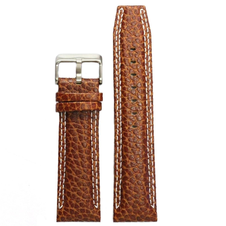 Alexis 24mm 本物の革の腕時計バンド茶色のステンレススチールバックルのスプリングバーと取り外しツールを含むWB1238A24GB  B0793SXVFH