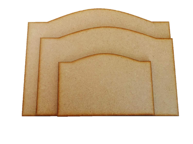 5 St/ück blanko MDF-Schleifen Form Plaques Schilder 120 mm x 80 mm