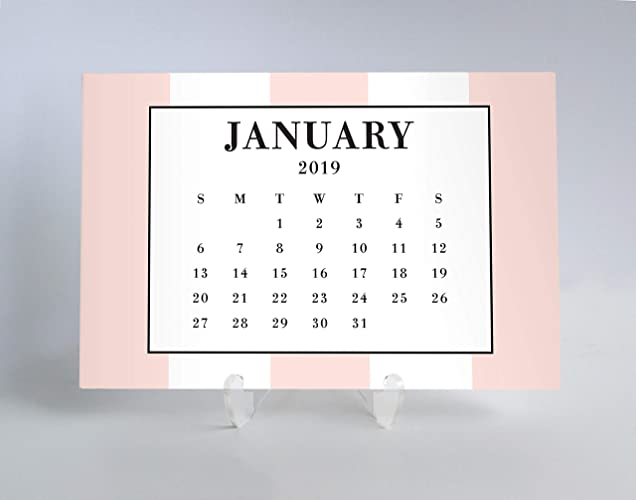 graphic about Pretty Calendars named : 2019 Table Calendar Planner Playing cards At a Search