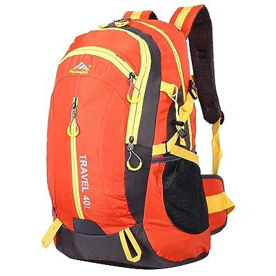 EVERGO Sac à Dos pour Randonnée Alpinisme Sac de Voyage Sport Grand Orange