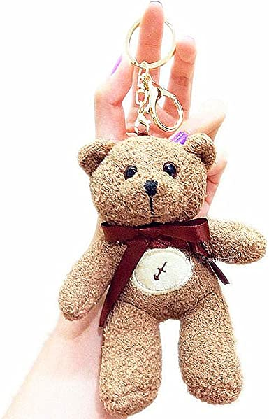 Cute Fluffy Bear Doll Charm Soft Plush Toy Bag Mobile Phone Key Charm