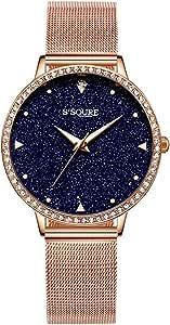 Alienwork Reloj Mujer Relojes Acero Inoxidable Banda de