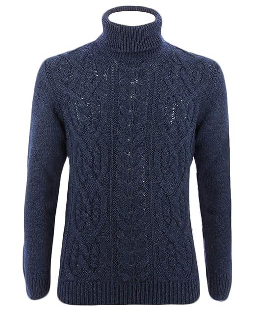 a basso prezzo 0a82d 3fa3c Gran Sasso Dolcevita Blu per Uomo: Amazon.it: Abbigliamento