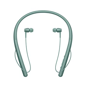 Sony WIH700 - Auriculares Neckband inalámbricos (Hi-Res Audio, H.Ear, diseño Ligero, Bluetooth, Compatible con aplicación Headphones Connect) Verde: ...