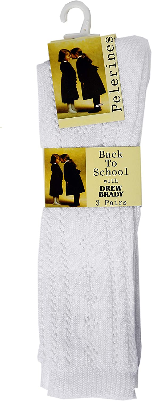 6 Pairs Girls Pelerine White School Socks 5 sizes available