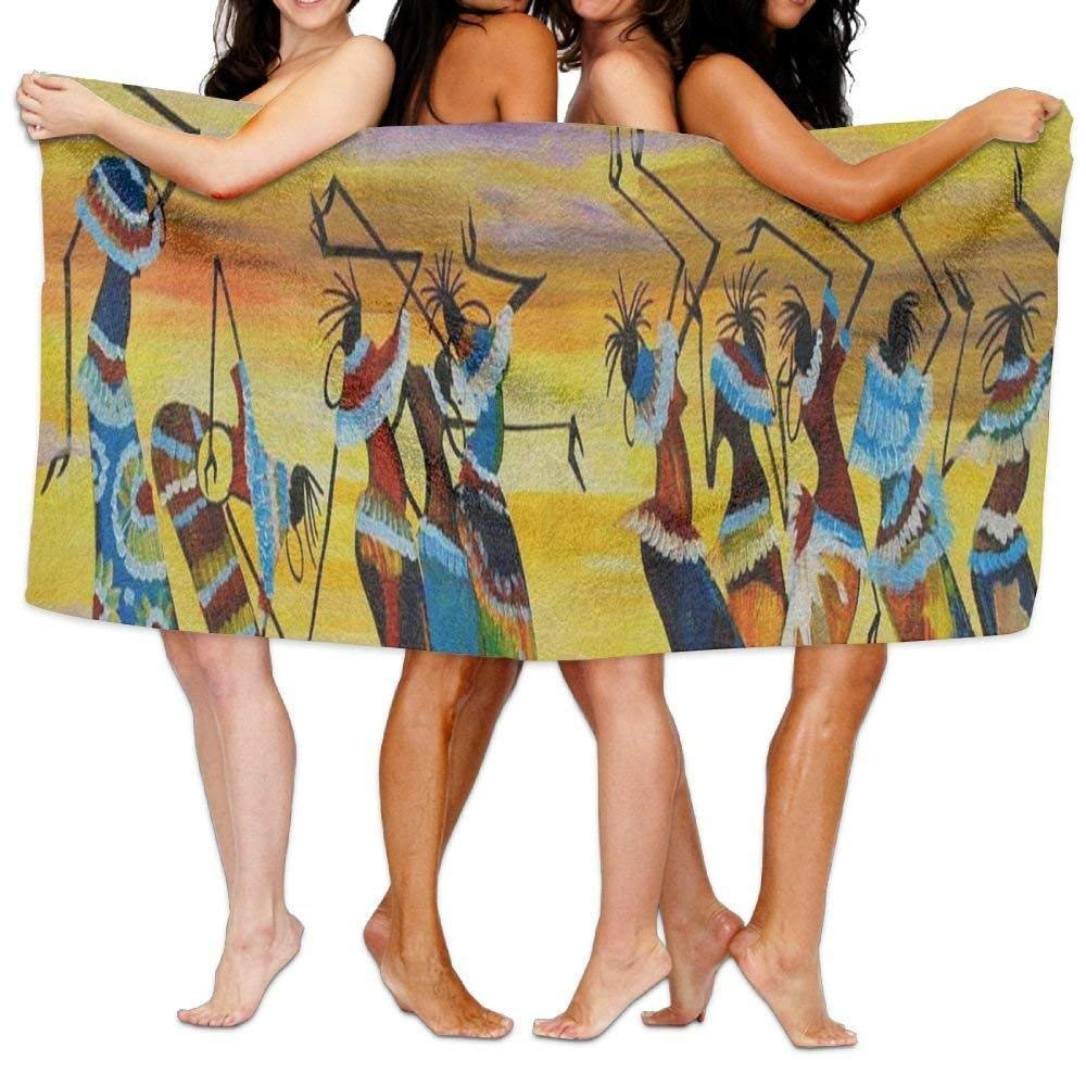JHDHVRFRr Beach Towel A Passionate African Dance 31 X 51 Soft Lightweight Absorbent for Bath Swimming Pool Yoga Pilates Picnic Blanket Towels
