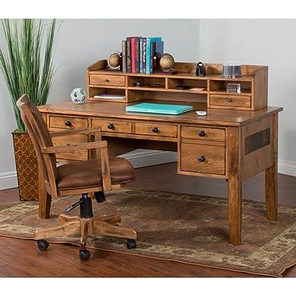 Amazon Com Sunny Designs 2962ro D Sedona Writing Desk Rustic Oak
