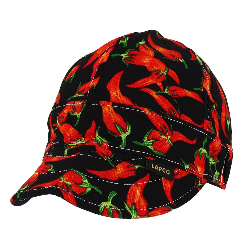 Trendy Apparel Shop 6 Paneled Soft Crown Reversible Cotton Welding Caps - Chilli by Trendy Apparel Shop
