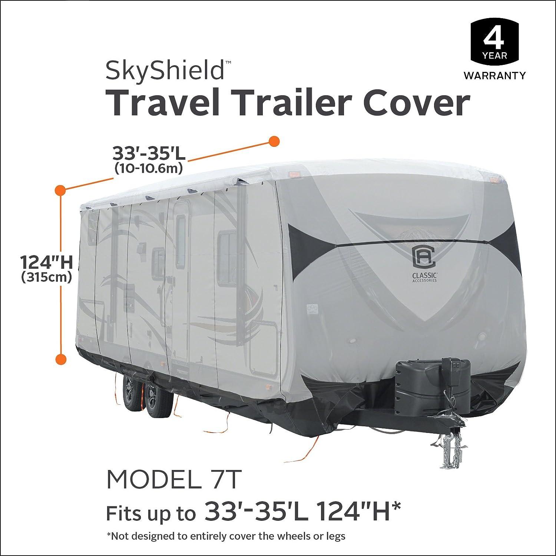 Classic Accessories SkyShield RV Travel Trailer Cover For 27-30 L 118 Max H