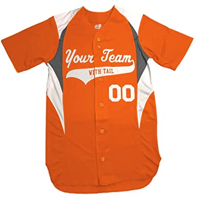 online store 0e78d 7d1da 3 Color Customized Baseball Jersey Youth Small in Orange and White