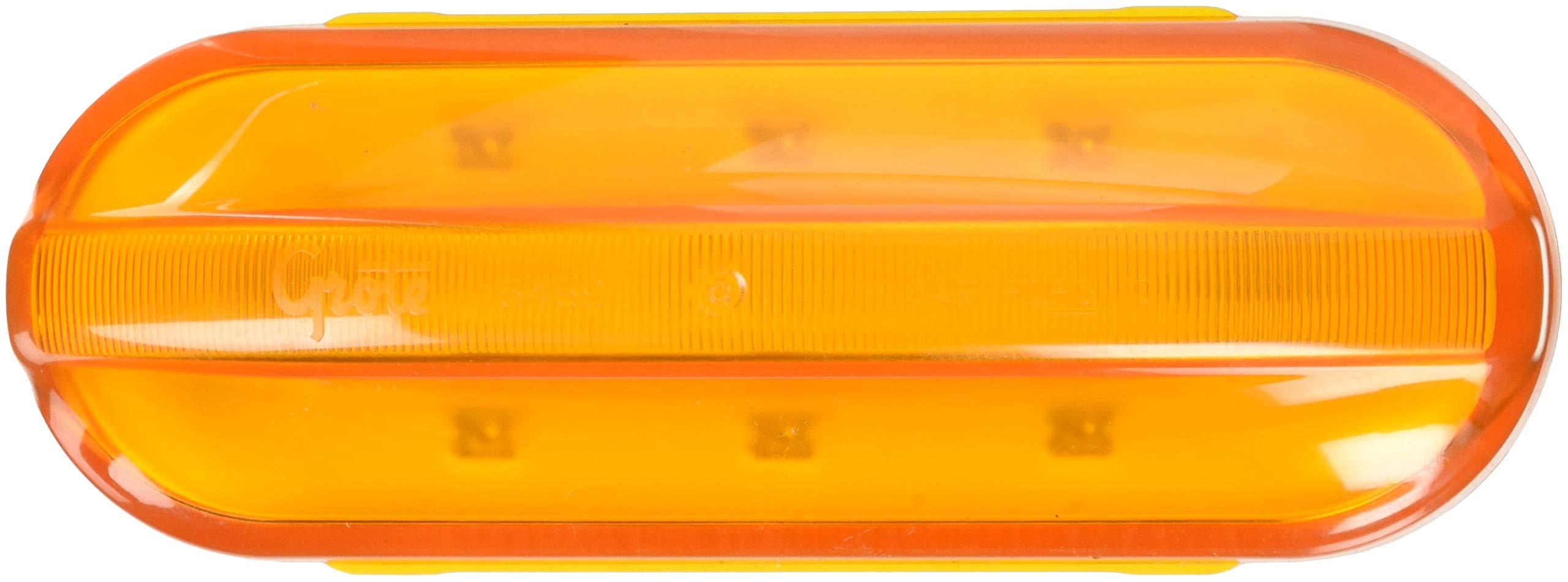 Grote 54593 Yellow RazorBack Mid-Position Flashing LED Marker Light