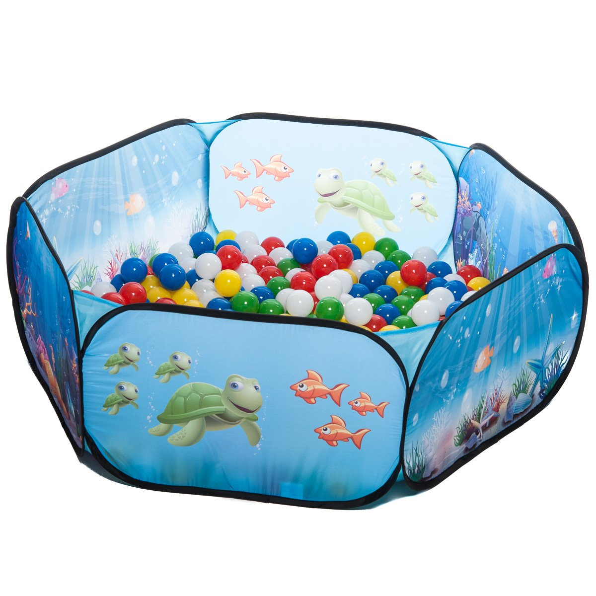 pop up Unterwasserwelt Babypool Bällebad Bällepool + 400 bunte TÜV-geprüfte Bälle