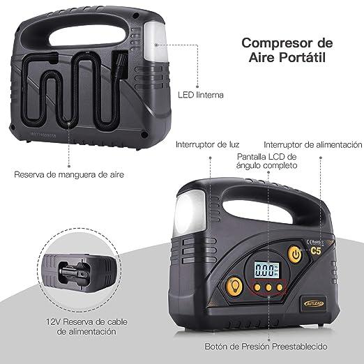 Amazon.es: AUTLEAD C5 Compresor Aire Coche