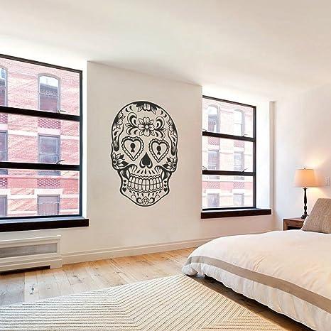 SUGAR SKULL 4 Vinyle Mur Autocollant Graphique Home Lettrage Chambre Collant Sticker Art