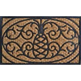 Imports Décor Rubber and Coir Molded Doormat, Pineapple, 18 by 30-Inch