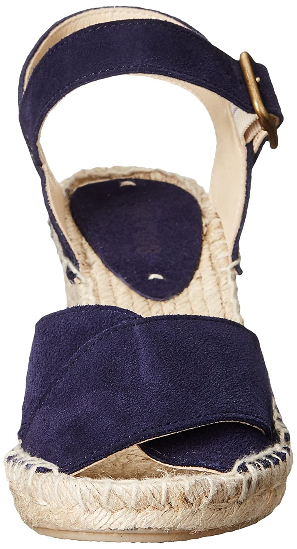 Soludos Women's Criss Cross Espadrille Wedge Sandal B01FQZGQGU 8 B(M) US|Midnight Blue