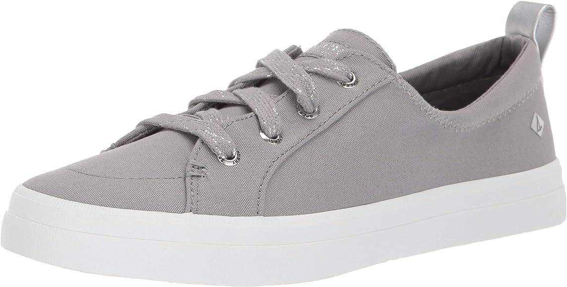 Crest Vibe Canvas Sparkle Sneaker, Grey