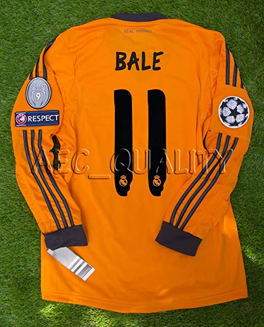new arrival 8f544 10c07 Amazon.com: GARETH BALE #11 L/S NEW 2013-14 REAL MADRID 3rd ...