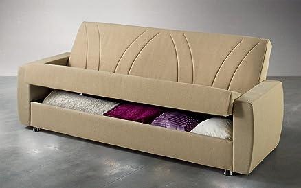 Dafnedesign.com - Divano letto reclinabile con vano contenitore e ...
