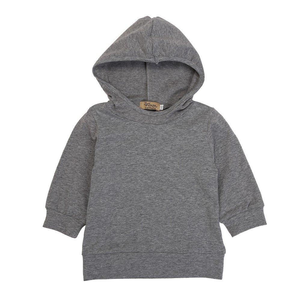 Gestreifte Hosen Blaward Neugeborenes Baby M/ädchen Jungen Kleidung Set Grauer Hoodie-Pullover