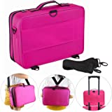 Hotrose Professhional Large Space Cosmetic Artist Organizer - Handle Shoulder Bag - Makeup Bag (Large Size)