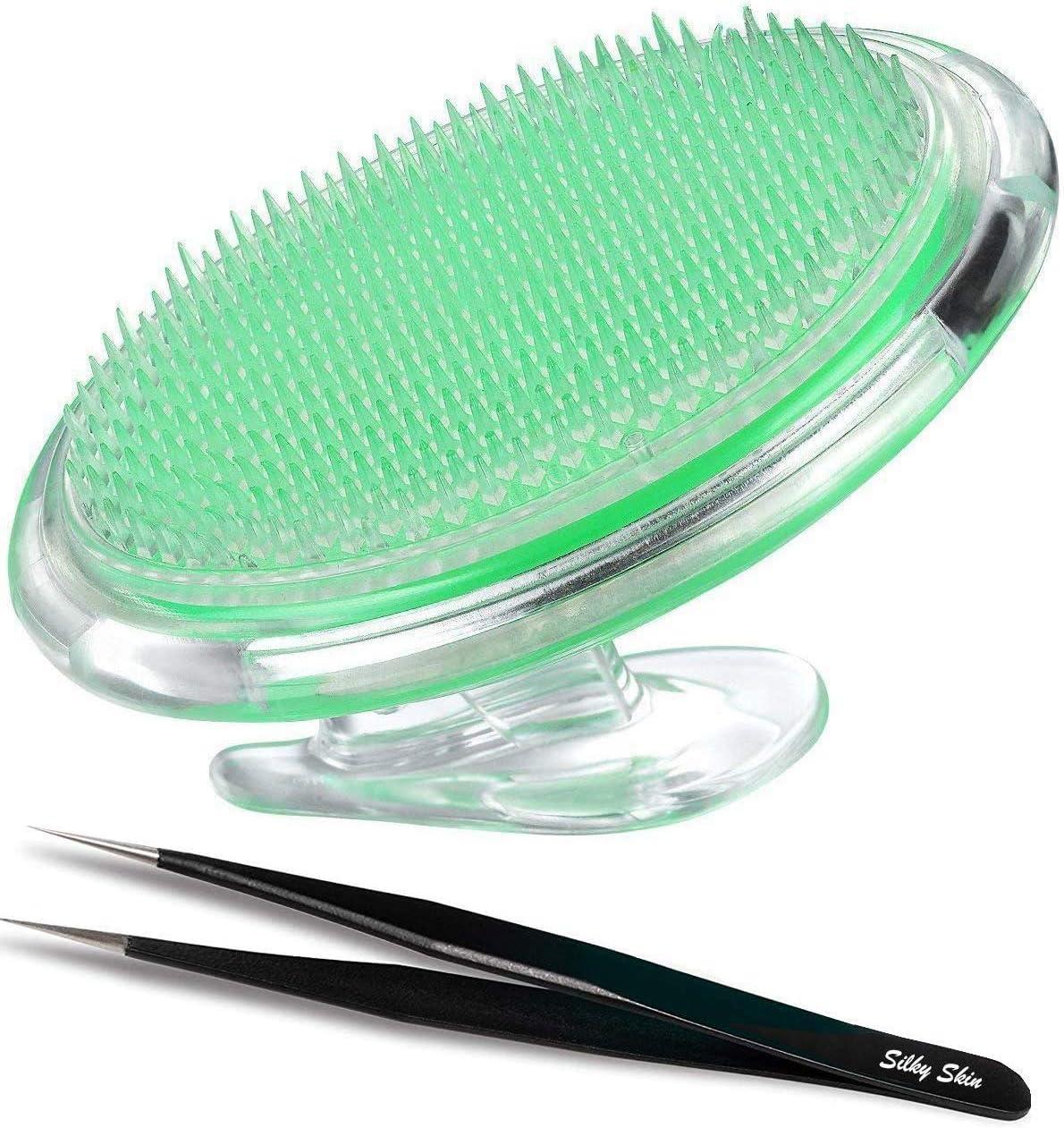 Cepillo exfoliante para prevenir el vello encarnado, para hombres y mujeres para el cuerpo. Elimina los golpes de afeitado, la irritación causada por el afeitado