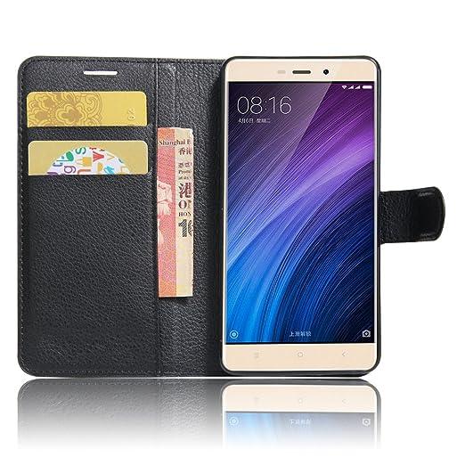 """4 opinioni per Xiaomi Redmi 4 Custodia, SMTR Xiaomi Redmi 4 (5"""") Wallet Case Cover Leather Flip"""
