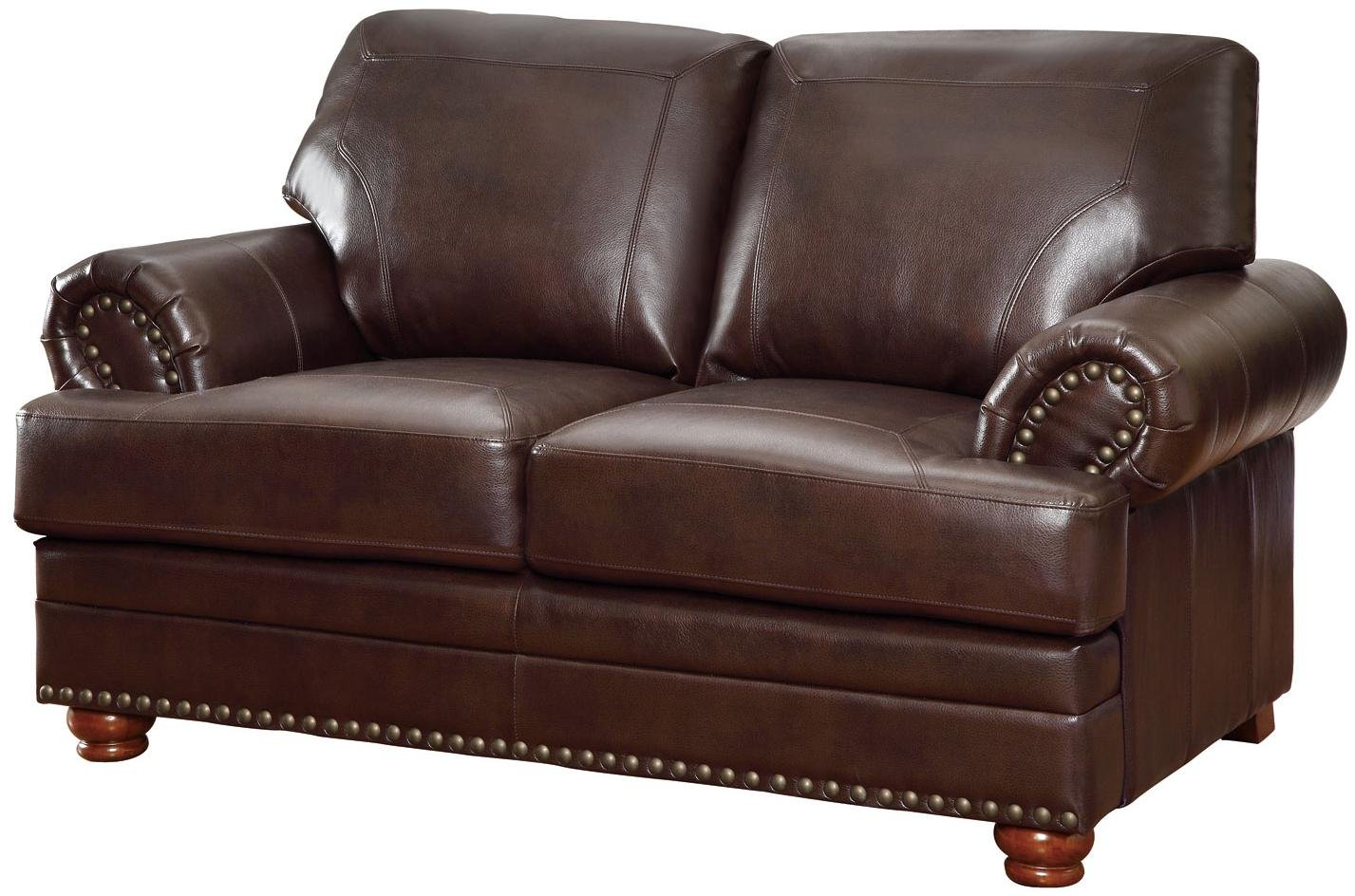 Amazon.com: Coaster Colton Traditional Brown Love Seat With Rolled Arms:  Kitchen U0026 Dining
