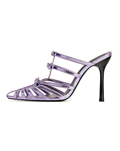 88cca70cfb247 Zara Women's Lilac Pointed Toe high-Heel Sandals 3360/001: Amazon.co ...